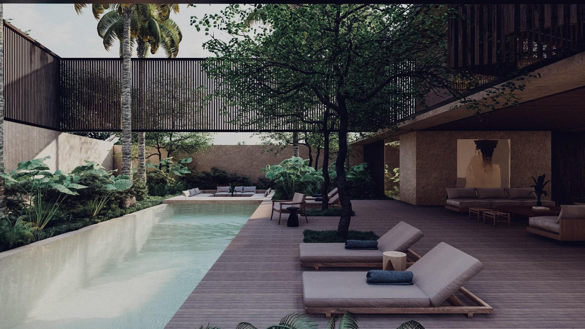 Tropical House in Lombok Krandangan Pool and pool deck