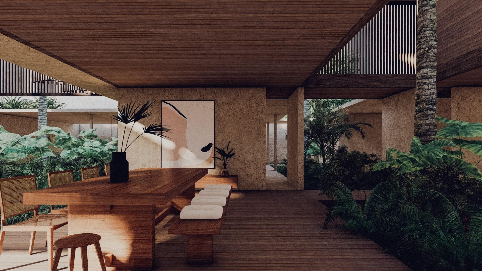 Tropical House in Lombok Krandangan Dining
