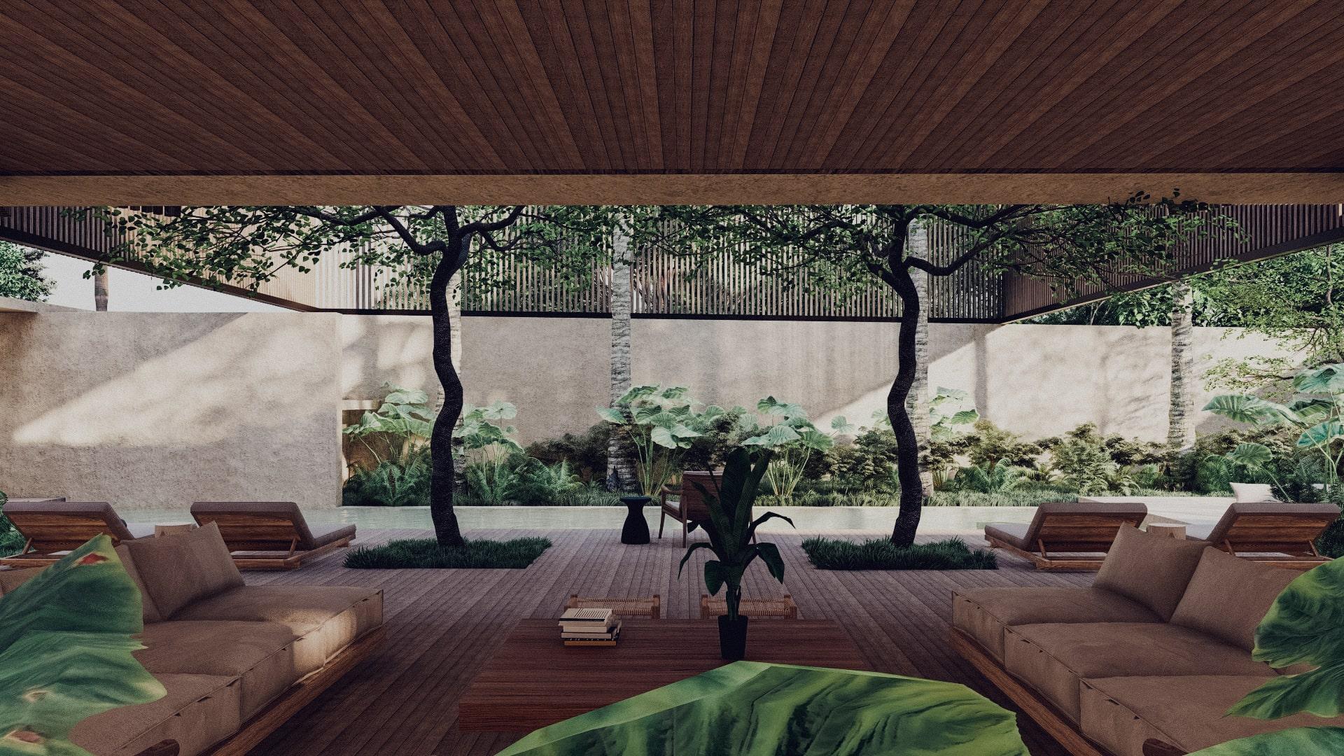 Tropical House in Lombok Krandangan Living