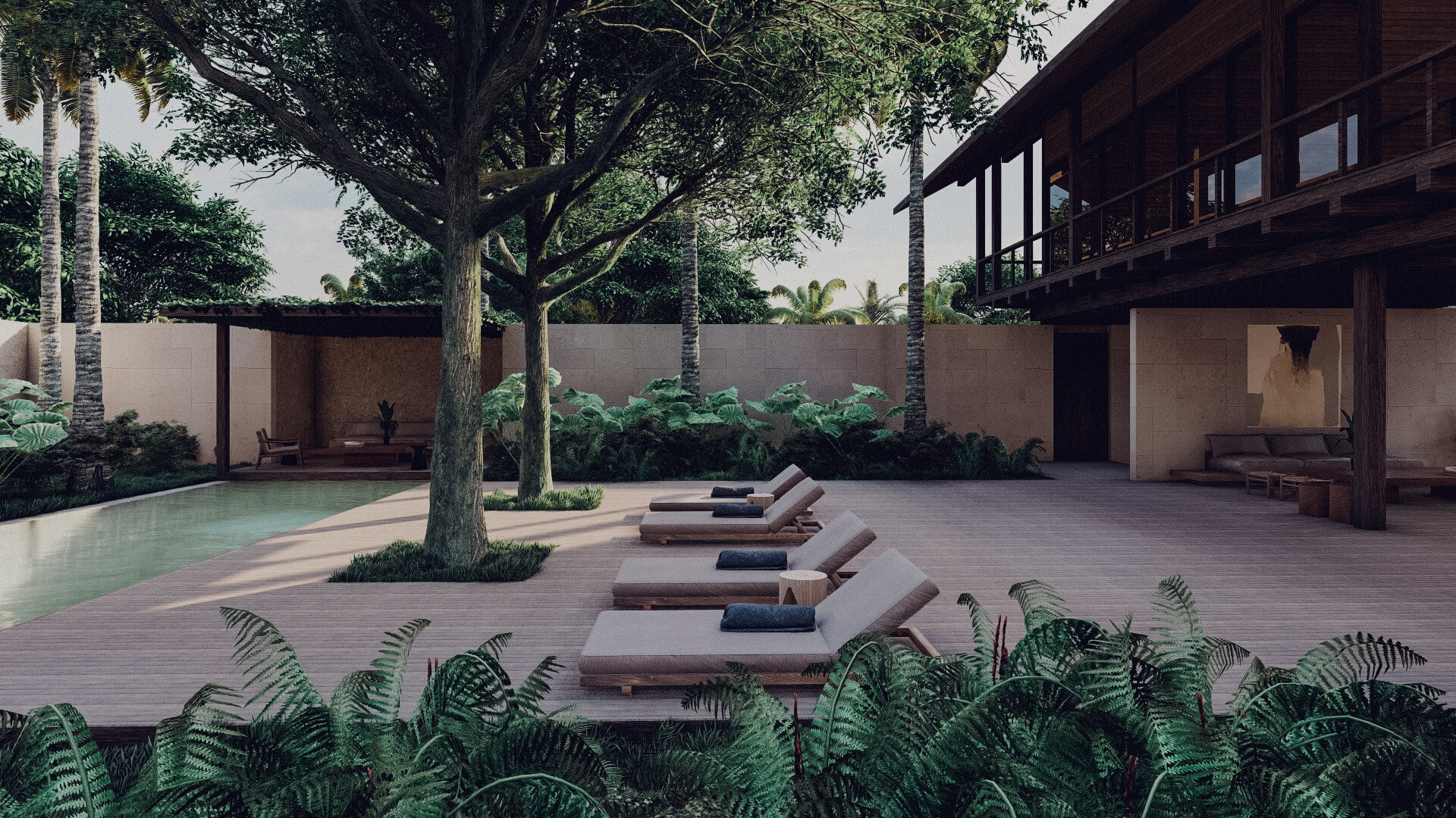 House in Lombok Indonesia Architect pool and deck