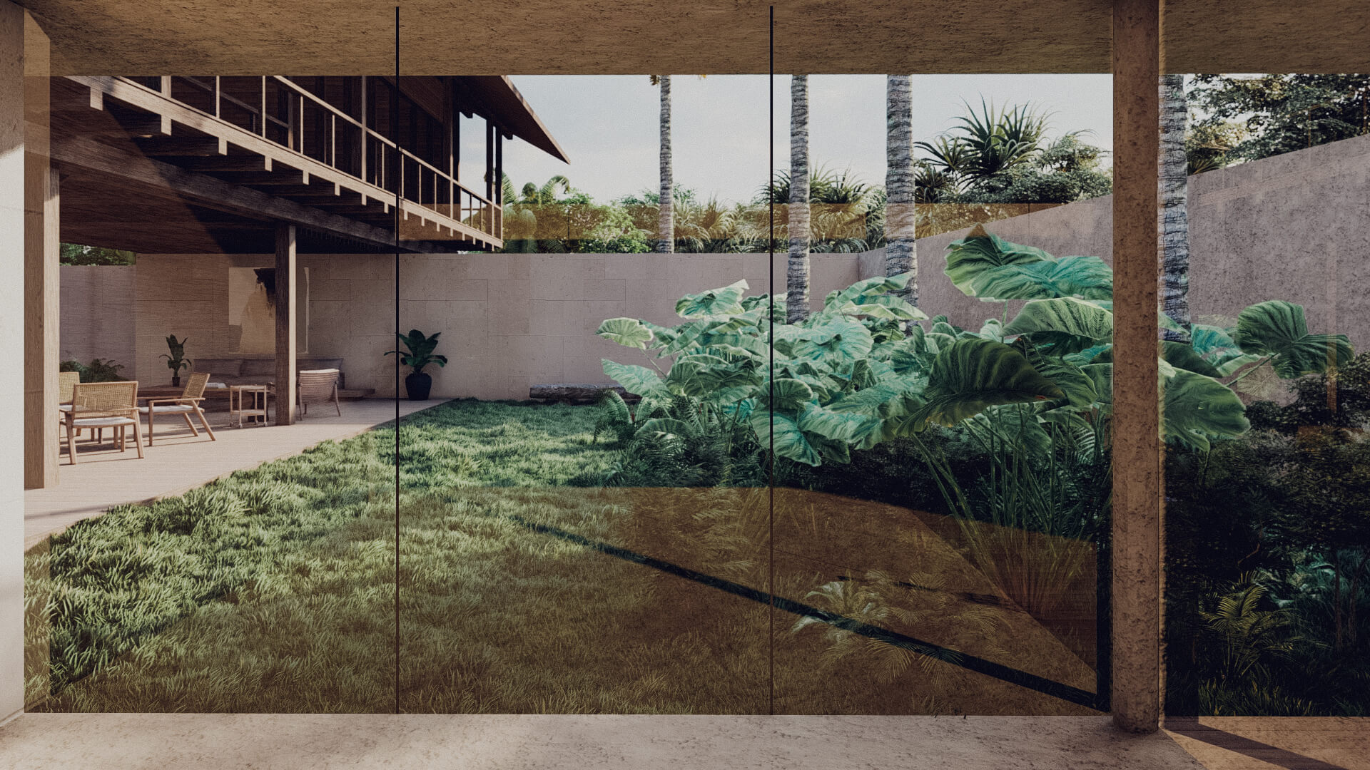 House in Lombok Indonesia Architect study room