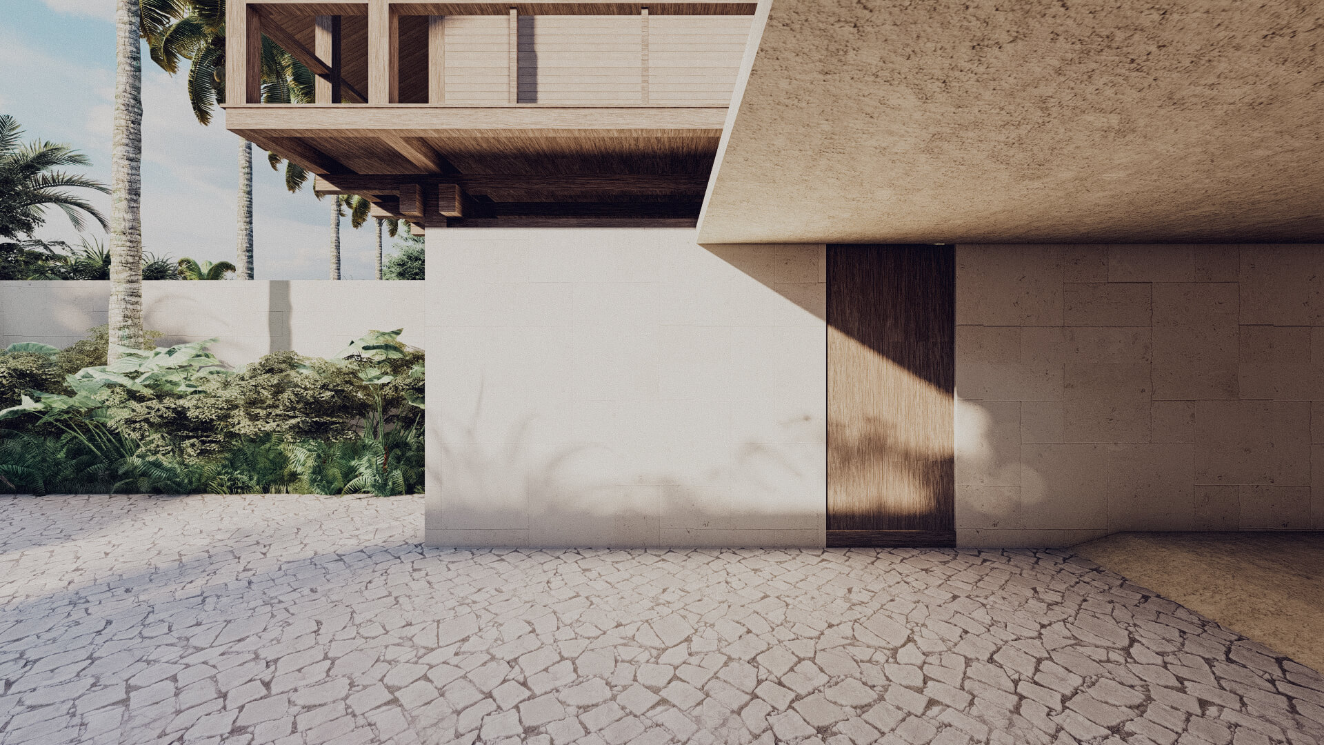 House in Lombok Indonesia Architect Entrance