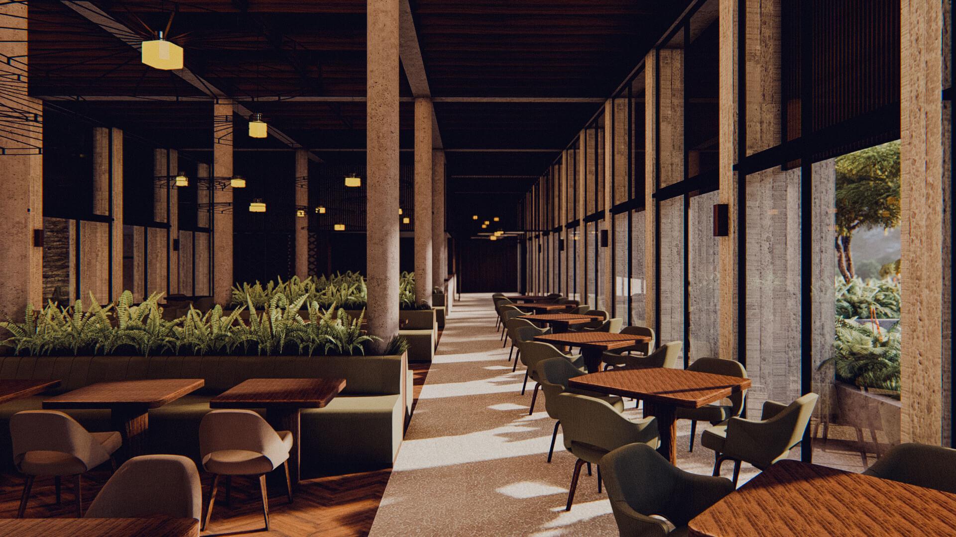 Resort Hotel Indoor Dining Lombok Bali Architect 01