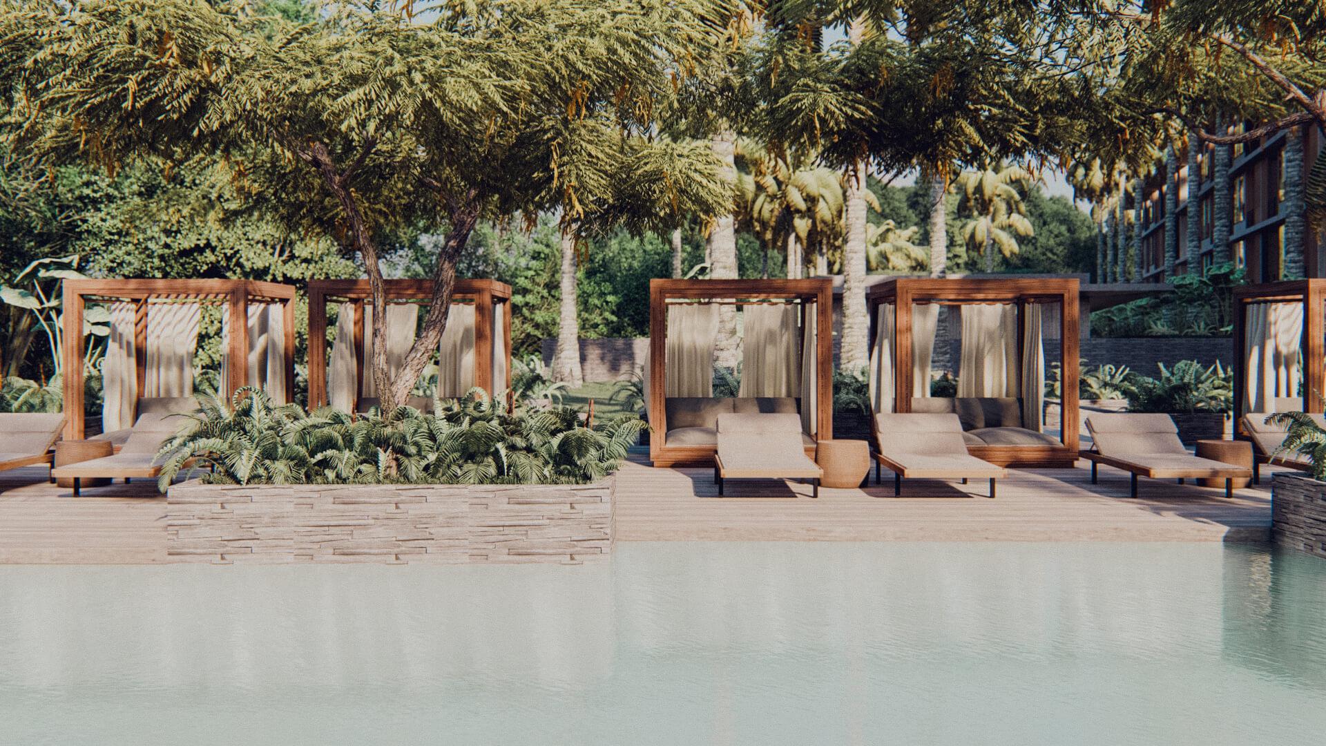 Resort Hotel Swimming Pool Deck Lombok Bali Architect 01