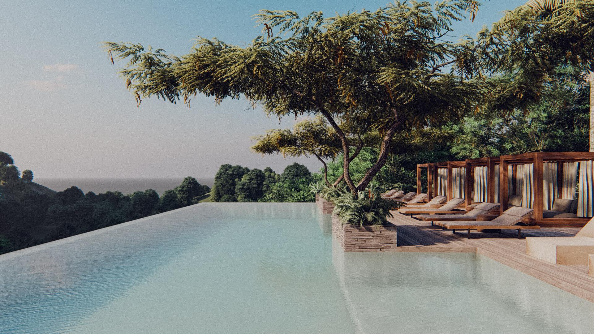 Resort Hotel Swimming Pool Lombok Bali Architect 01