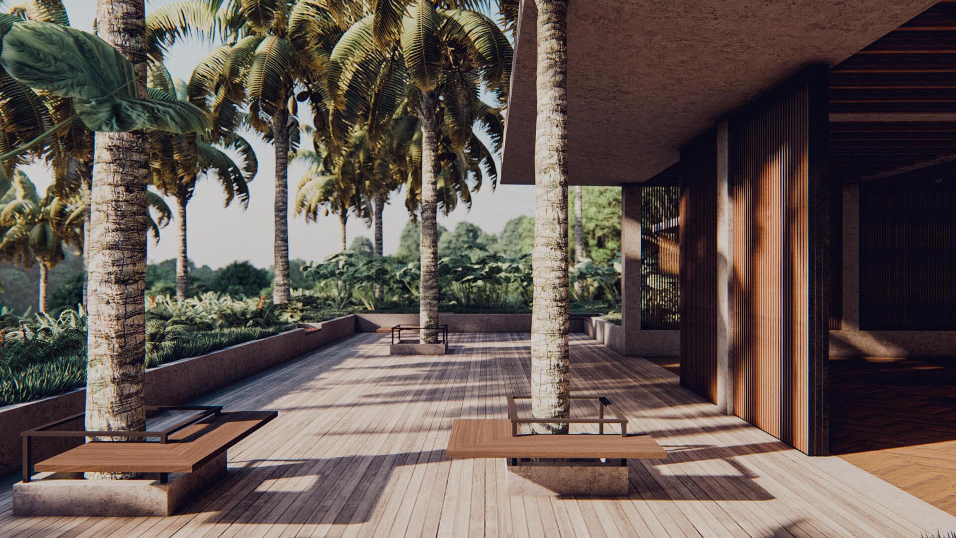 Resort Hotel Yoga Deck Lombok Bali Architect 01