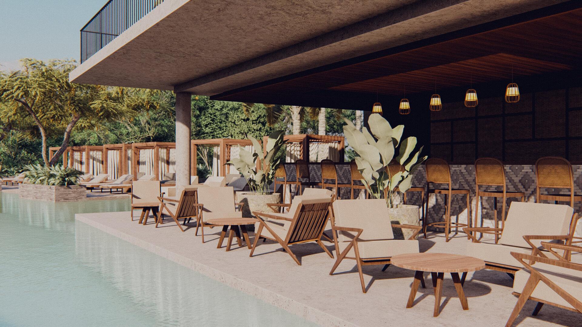 Resort Hotel Swimming Pool Bar Lombok Bali Architect 01