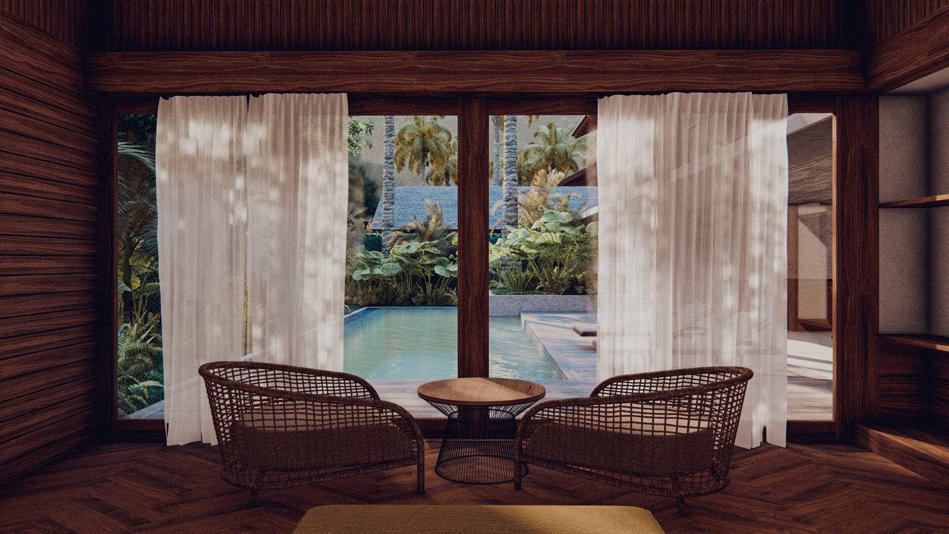 Resort Hotel 2 bedroom Villa Lombok Bali Architect 01