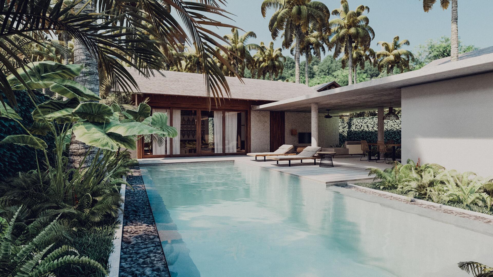 Resort Hotel 1 bedroom Villa Lombok Bali Architect 01