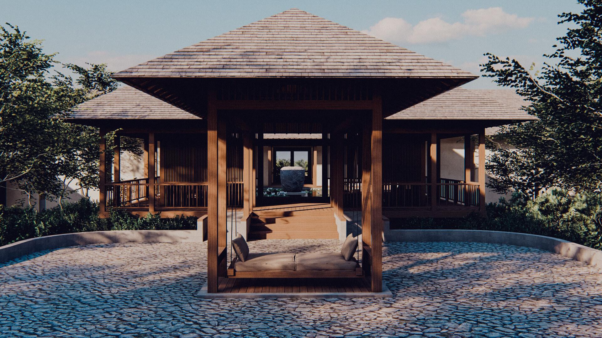 Eco Resort in Lombok Lobby Approach