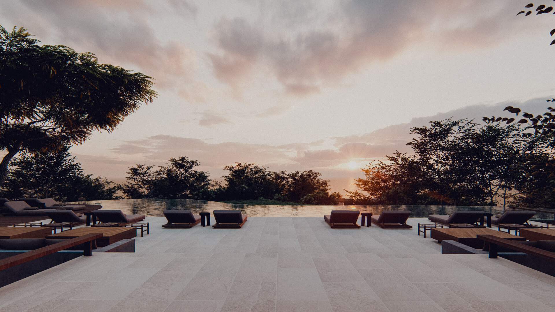 Eco Resort in Lombok Pool Deck Approach