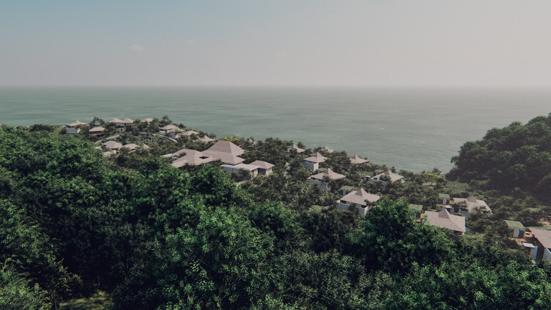 Eco Resort in Lombok Aerial View