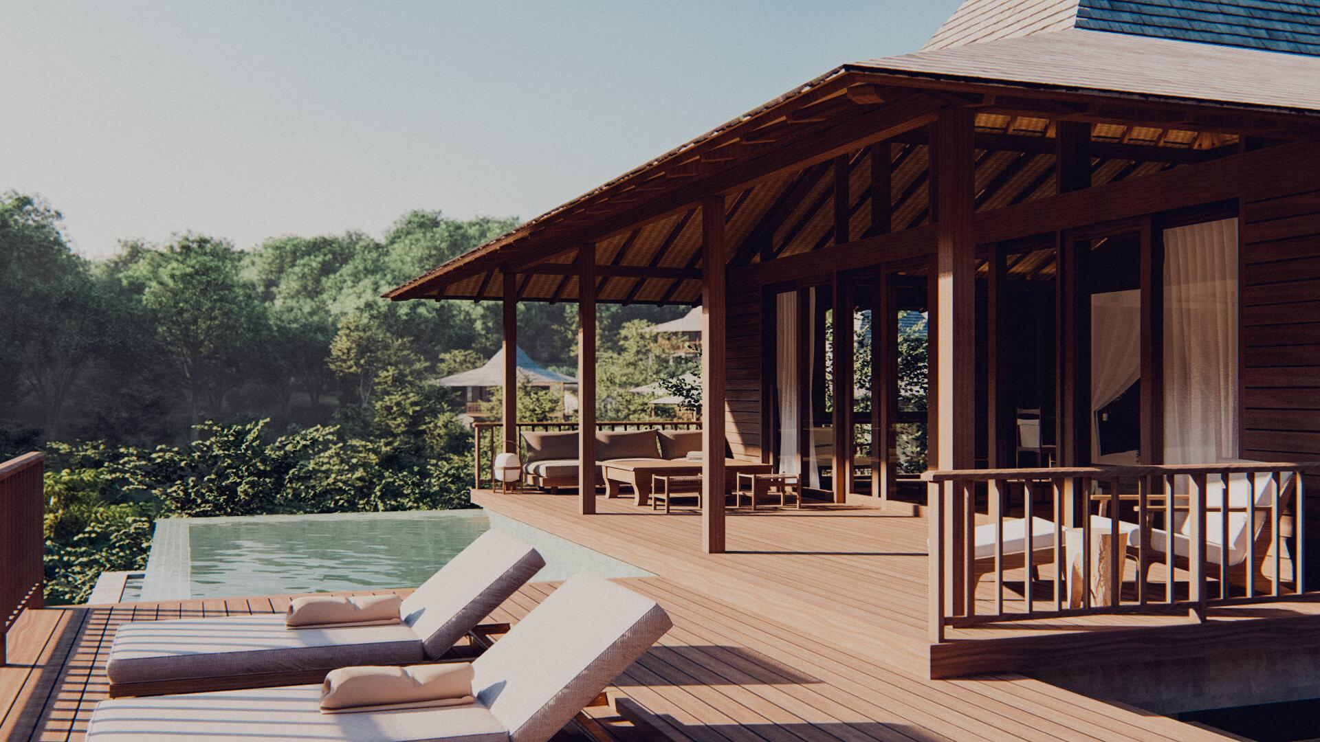 Eco Resort in Lombok Pool Villa