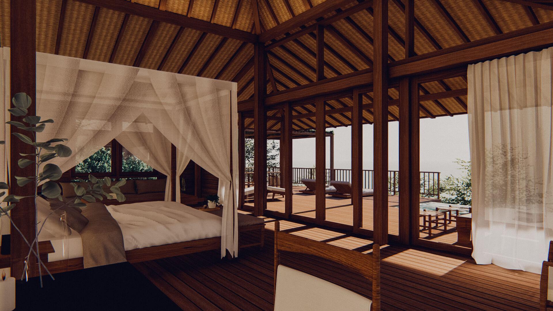 Eco Resort in Lombok Pool Villa Bedroom