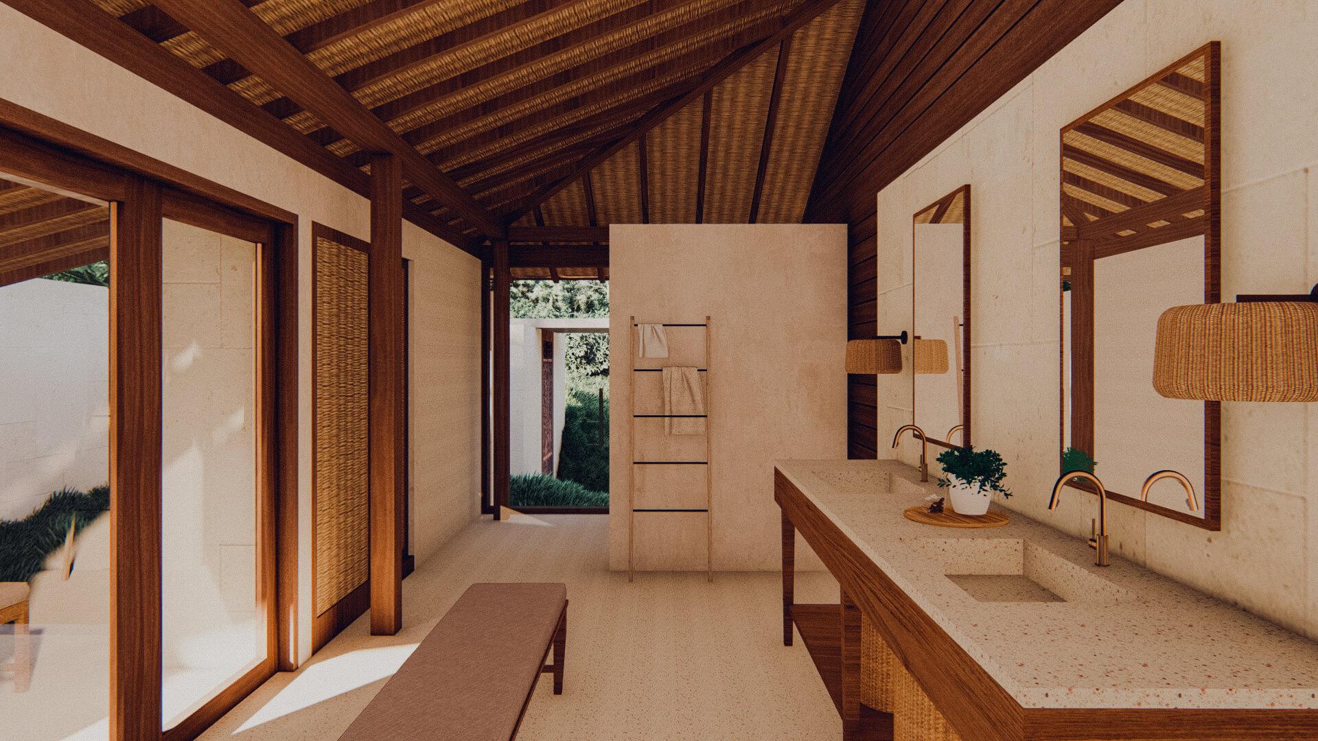 Eco Resort in Lombok Pool Villa Bathroom