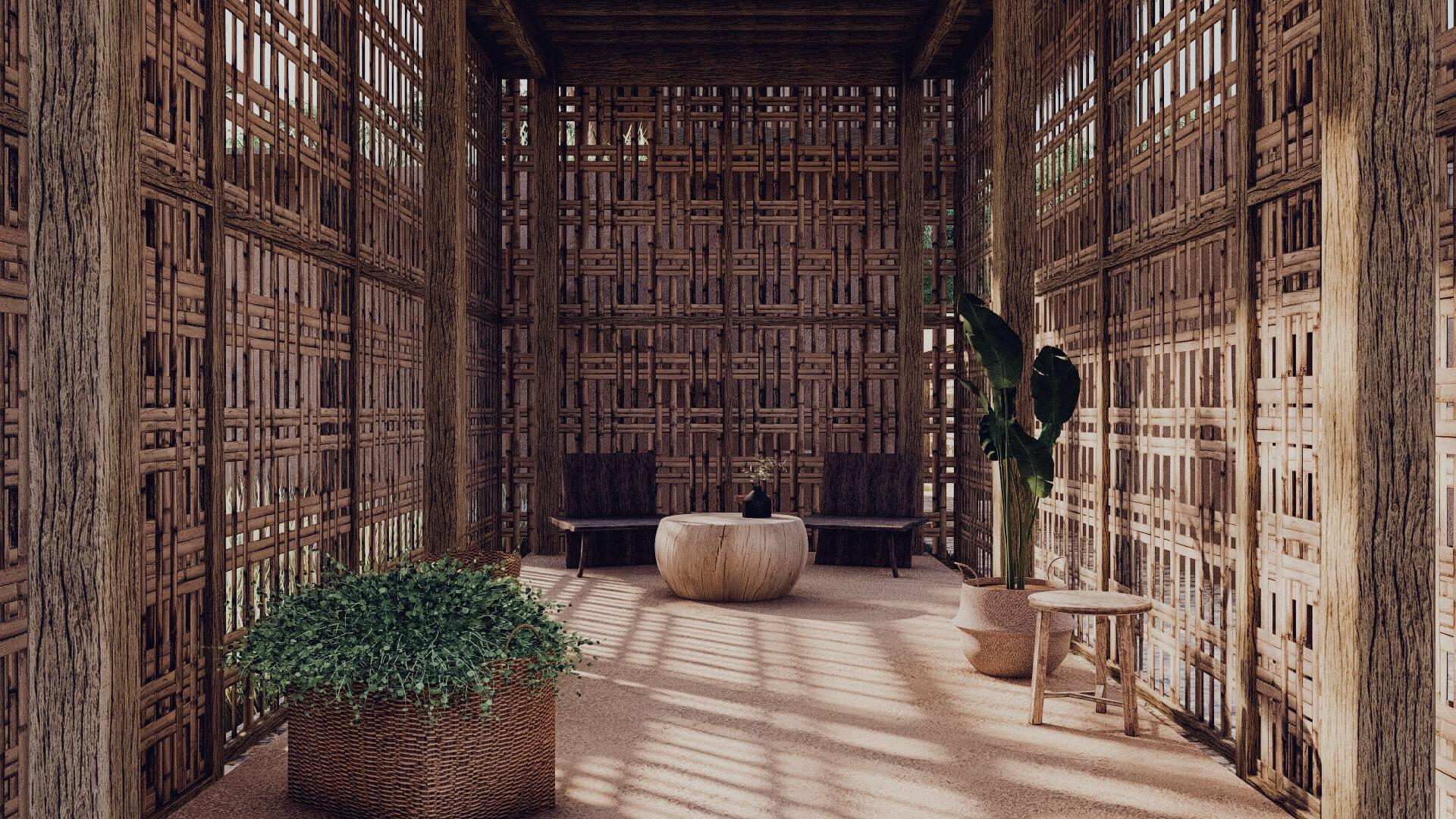 Rumah Besar Sembalun Lombok Architecture Lobby