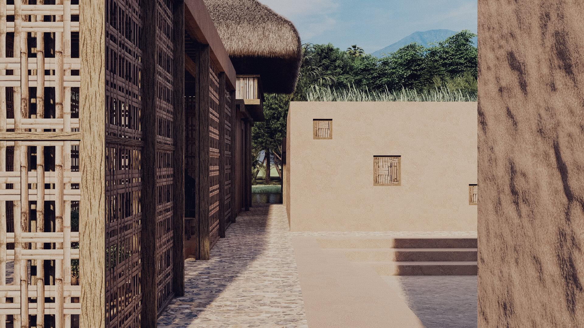 Rumah Besar Sembalun Lombok Architecture Pathway