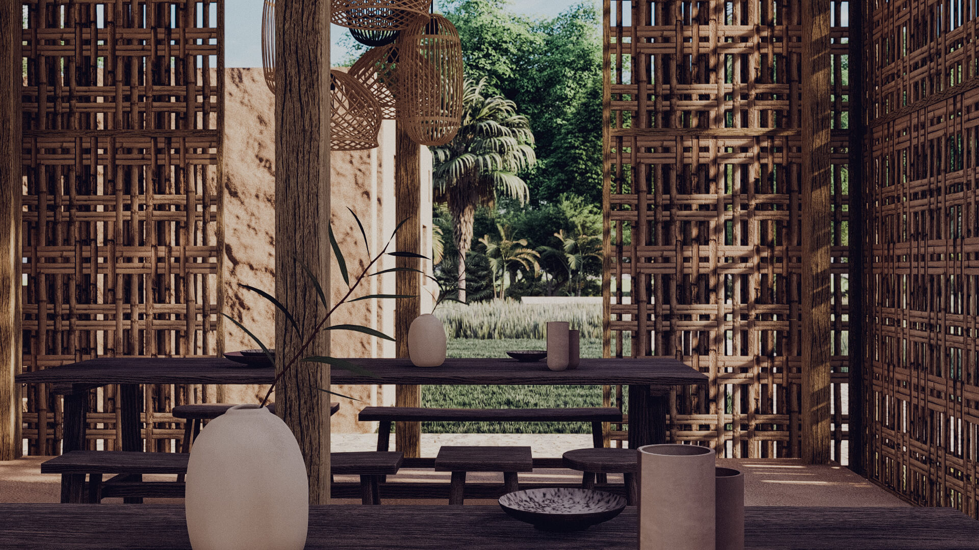 Rumah Besar Sembalun Lombok Architecture Restaurant and Cafe
